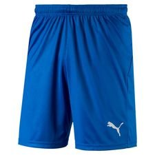 puma shorts liga core - blå - træningsshorts