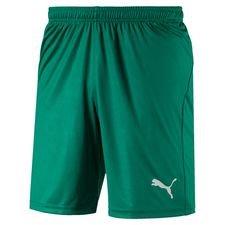puma shorts liga core - grøn børn - træningsshorts