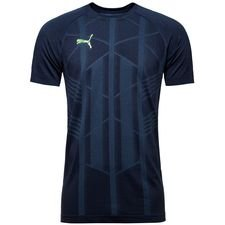 puma trænings t-shirt ftblnxt evoknit - navy - træningstrøjer