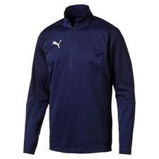 puma training shirt liga 1/4 zip - peacoat kids - training tops