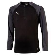 puma training shirt ftblnxt core 1/4 zip - black kids - training tops