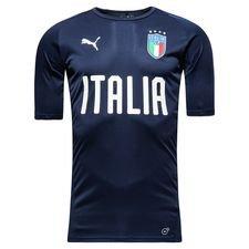 italien trænings t-shirt - navy - træningstrøjer