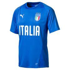 italien trænings t-shirt - blå børn - træningstrøjer