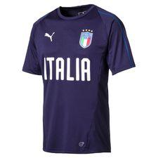 italien trænings t-shirt - navy børn - træningstrøjer