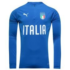 italy training shirt 1/4 zip - blue kids - training tops