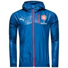 arsenal trainingsjacke thermo-r vent - blau - trainingsjacken