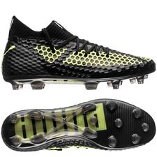PUMA Future 18.1 Netfit FG/AG - Sort/Gul LIMITED EDITION