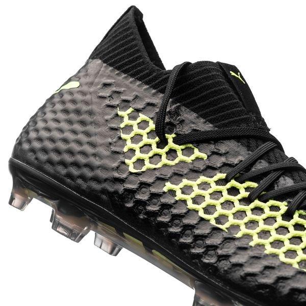 9c45265cd3a8ae ... puma future 18.1 netfit fg ag - black yellow limited edition - football  boots ...