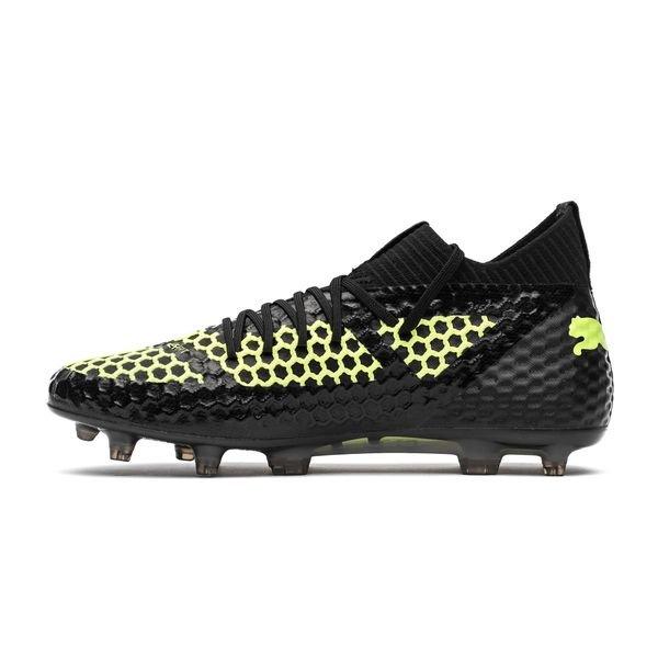 e1a52a97be8 ... puma future 18.1 netfit fg ag - black yellow limited edition - football  boots ...