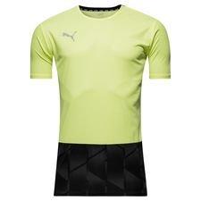 puma trænings t-shirt ftblnxt graphic - gul - træningstrøjer