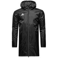 adidas stadium jacket core 18 - black/white - training jackets