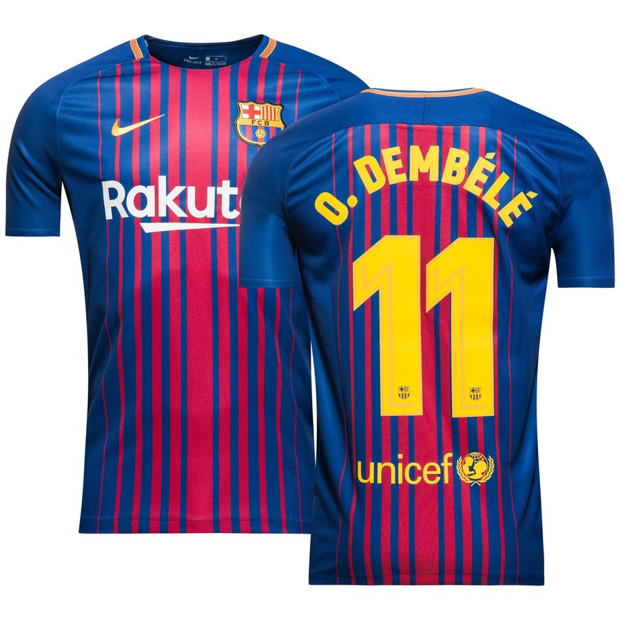 Maillot Domicile FC Barcelona O. Dembélé