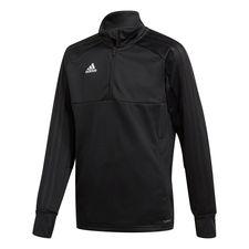 adidas træningstrøje 1/4 lynlås condivo 18 - sort/hvid børn - træningsjakke