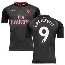 arsenal 3. trøje 2017/18 lacazette 9 børn - fodboldtrøjer