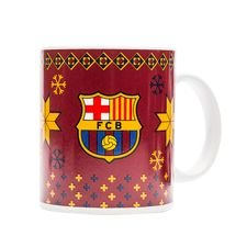 barcelona christmas mug - red - merchandise