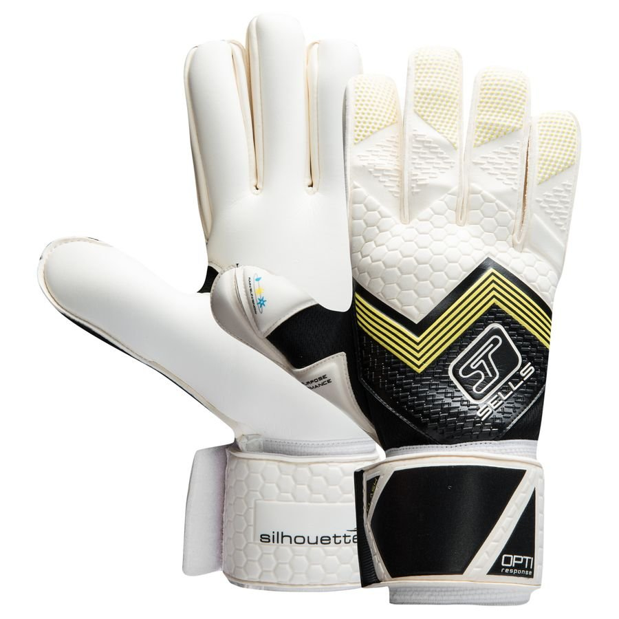 sells goalkeeper gloves silhouette flash black white yellow www