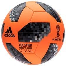 adidas Fodbold VM 2018 Telstar 18 Kampbold Vinter - Orange/Sort/Sølv
