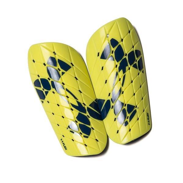 under armour benskinner flex - gul/blå - benskinner