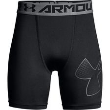 under armour heatgear compression tights - black/grey kids - baselayer