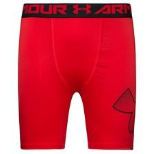 under armour heatgear compression tights - red/black kids - baselayer