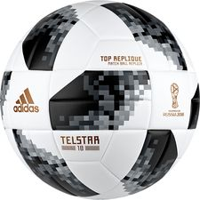 adidas Fotball World Cup 2018 Telstar 18 Top Replique - Hvit/Sort/Sølv FORHÅNDSBESTILLING