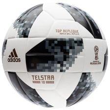 Image of   adidas Fodbold VM 2018 Telstar 18 Top Replique - Hvid/Sort/Sølv