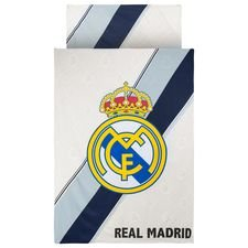 Real Madrid Sängkläder Logo - Vit/Navy