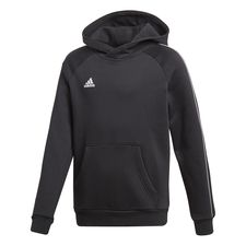 adidas hoodie core 18 - schwarz/weiß kinder - hoodies