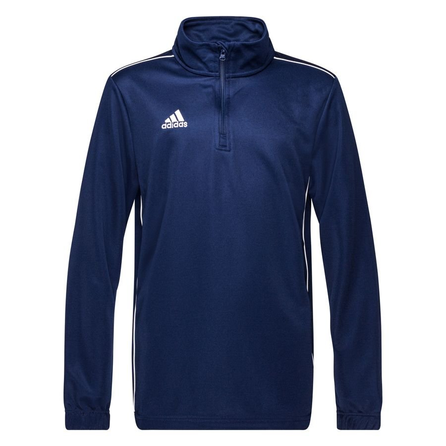 adidas training shirt 1 4 zip core 18 - dark blue white kids ... 394ea5080