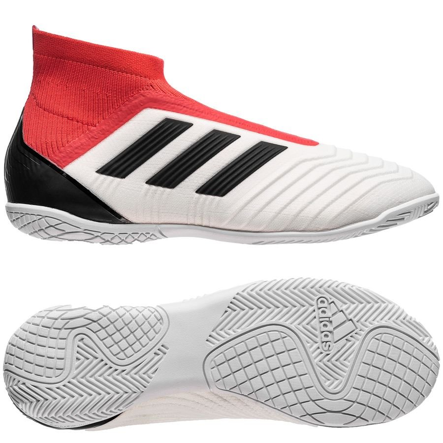 f2f629e77acb adidas Predator Tango 18+ IN Cold Blooded - Footwear White Core Black Real  Coral Kids