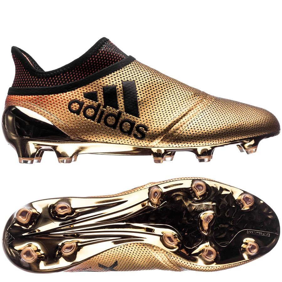 adidas x 17 fg/ag skystalker - doré/noir/rouge - chaussures