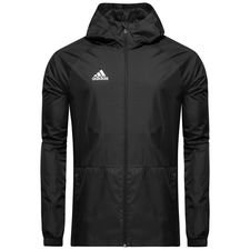 adidas rain jacket condivo 18 - black/white - rain jackets