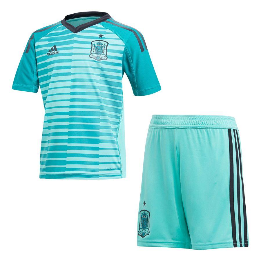 save off 437ab 5670e Spain Goalkeeper Shirt 2018/19 Mini-Kit Kids   www ...