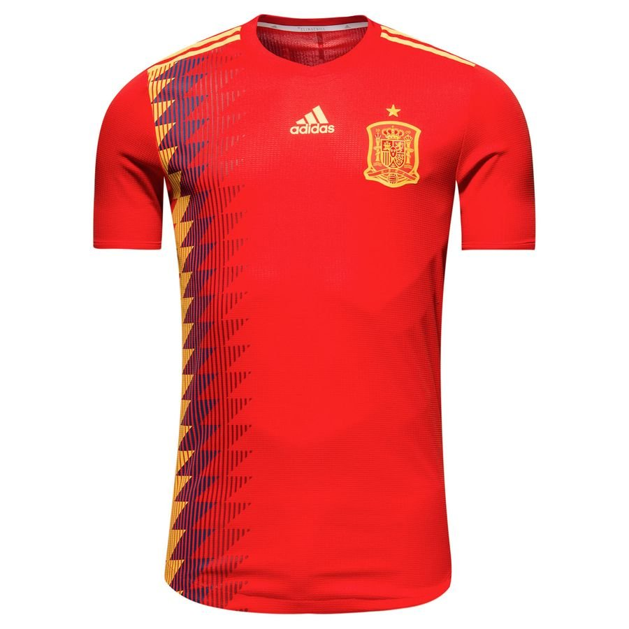 espagne maillot domicile coupe du monde 2018 authentic - maillots de  football