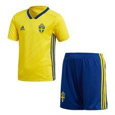 sweden home shirt world cup 2018 mini-kit kids - football shirts
