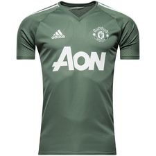 manchester united training t-shirt - trace green/white - training tops