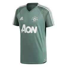 manchester united trænings t-shirt - grøn/hvid børn - træningstrøjer