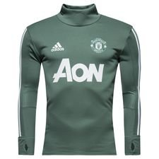 manchester united training shirt - trace green/white - training tops