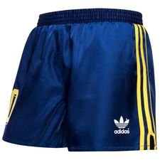 colombia retro home shorts 1980 originals - blue - football shorts