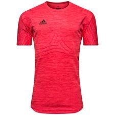 Image of   adidas Trænings T-Shirt Tango Terry Cold Blooded - Rød/Sort