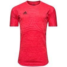adidas trænings t-shirt tango terry cold blooded - rød/sort - træningstrøjer