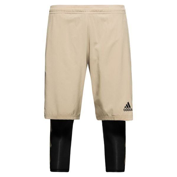 adidas trainingsshorts 2in1 tango skystalker - gold - trainingsshorts