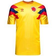 colombia retro hjemmebanetrøje 1980 originals - gul - fodboldtrøjer