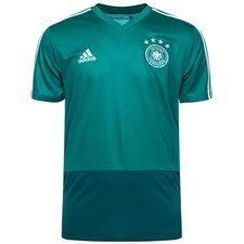 tyskland trænings t-shirt - grøn/hvid - træningstrøjer