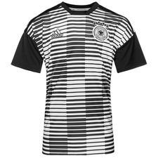 germany training t-shirt pre match parley - black/white - training tops