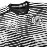tyskland trænings t-shirt pre match parley - sort/hvid - træningstrøjer