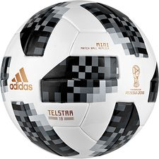 adidas Fotball World Cup 2018 Telstar 18 Mini - Hvit/Sort/Sølv