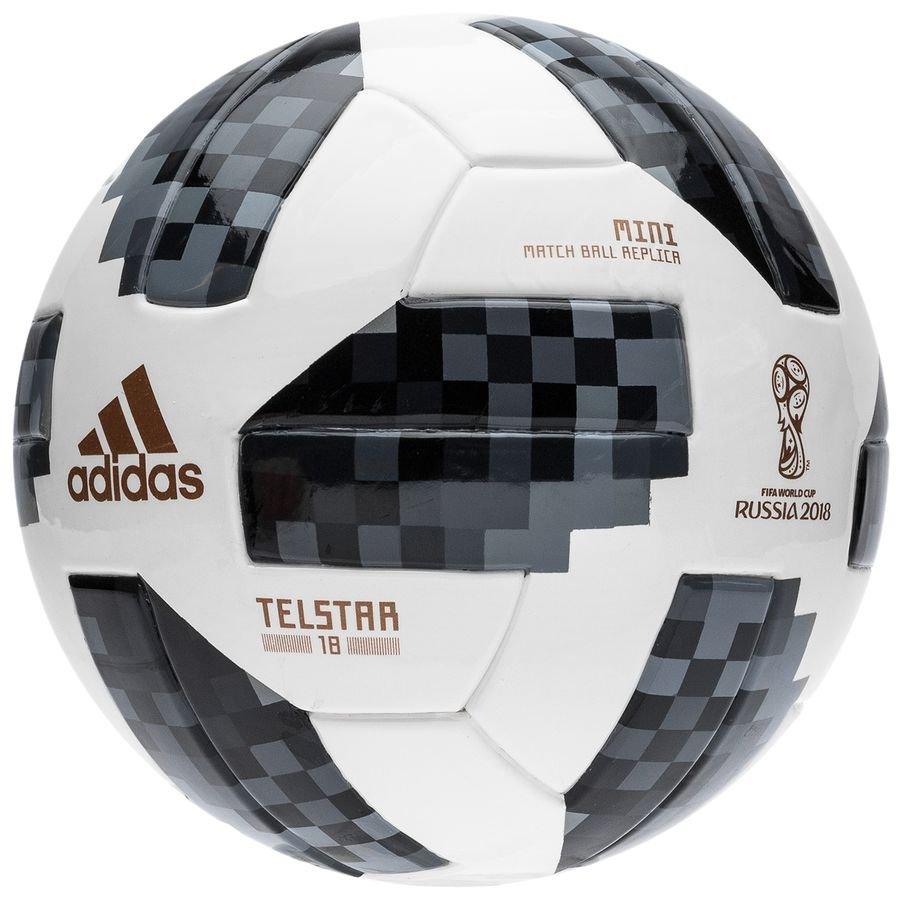 adidas ballon coupe du monde 2018 telstar 18 mini blanc noir argent. Black Bedroom Furniture Sets. Home Design Ideas