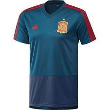 spanien trænings t-shirt - blå/rød børn - træningstrøjer