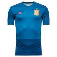 spanien trænings t-shirt - blå/rød - træningstrøjer
